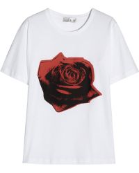 Lulu & Co - Roseprint Cottonjersey Tshirt - Lyst