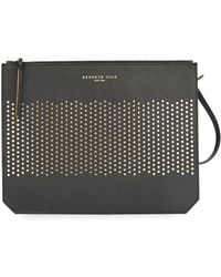 Kenneth Cole - Caton Street Perforated Leather Clutch - Lyst
