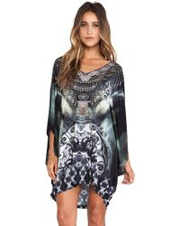 Camilla Bat Sleeve Mini Dress - Lyst