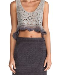 Lisa Maree - By The Wayside Crochet Top in Gray - Lyst