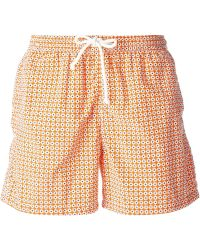 Kiton Floral-Print Swim Shorts - Lyst