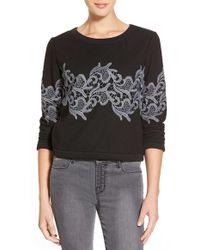 Plenty by Tracy Reese - Lace Applique Sweatshirt - Lyst