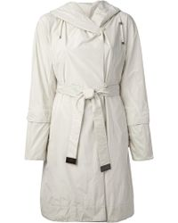 Max Mara Hooded Trench Frocoat - Lyst