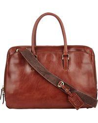 Boldrini Selleria - Leather Double-Handle Briefcase - Lyst