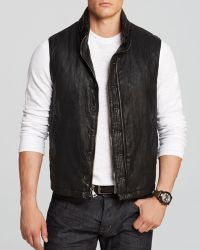 John Varvatos Double Zip Button Front Vest - Lyst