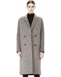 Alexander Wang Donegal  Nylon Quilted Combo Reversible Coat - Lyst