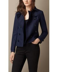 Burberry Cotton Poplin Trench Jacket - Lyst