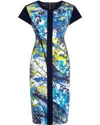 Gerry Weber - Panelled Print Dress - Lyst