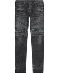Balmain Skinny Biker Jeans - Lyst