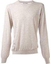 84764dcda6 Lyst - Brunello Cucinelli Elbow Patch Sweater in Brown for Men