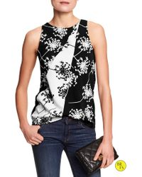 Banana Republic Factory Pieced-print Shell - Lyst