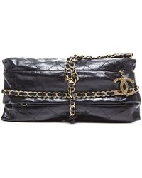 Chanel Preowned Black Quilted Leather Baluchon Bag - Lyst