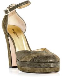 Terry De Havilland - Diversion Suede and Leather Platform Pumps  - Lyst