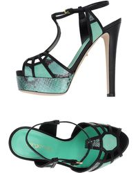 Sergio Rossi Sandals green - Lyst