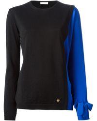 Vionnet Contrast Sleeve Sweater - Lyst