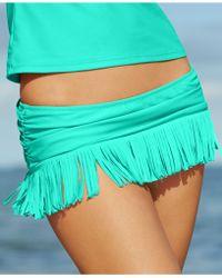 Jessica Simpson Fringe Swim Skirt - Lyst