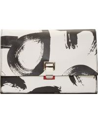 Proenza Schouler White And Red Abstract Print Leather Small Lunchbag - Lyst