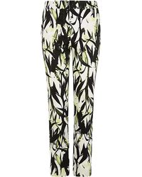 Reiss Olivia Floral Printed Trousers - Lyst