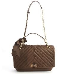 Lanvin Taupe Quilted Calfskin Happy Bag - Lyst