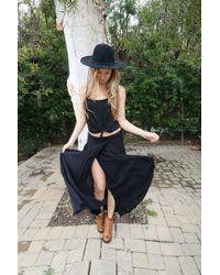 Tysa - Wrap Skirt In Black - Lyst