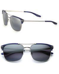 Barton Perreira Wexler Rectangular Titanium & Acetate Aviator Sunglasses - Lyst