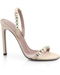 Gucci Mallory Crystal Slingback Sandals - Lyst