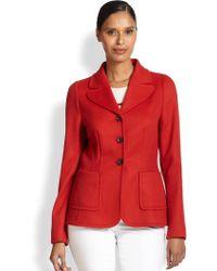 ESCADA Wool Jersey Jacket - Lyst