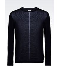 Armani Sweater In Striped Cotton And Viscose - Lyst