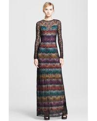 Missoni Zigzag Layered Knit Gown - Lyst
