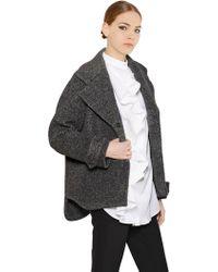 Viktor & Rolf Alpaca Wool Blend Peacoat - Lyst