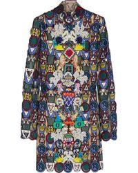 Mary Katrantzou Dixicult Embellished Macramé Lace Mini Dress - Lyst