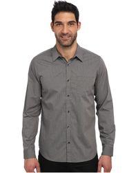 Calvin Klein Fine Line Dobby Long Sleeve Woven Shirt - Lyst
