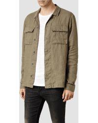 AllSaints Jutland Shirt khaki - Lyst