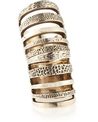 Pamela Love Sterling Silver Hinged Cage Ring - Lyst