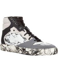 Balenciaga Marble-Print High-Top Sneakers - Lyst