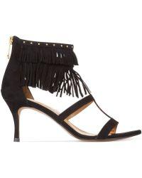 Report Signature Noemie T-Strap Fringe Sandals black - Lyst