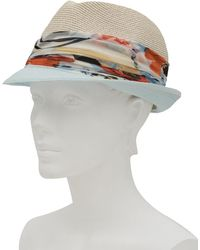 Eugenia Kim Size Medium Cream And Blue Craig Hat - Lyst