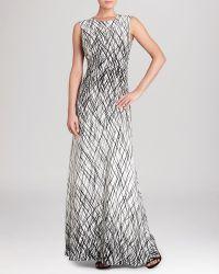 BCBGMAXAZRIA Bcbg Max Azria Gown  Chloey Sleeveless Printed Cutout Back - Lyst