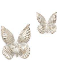 Rodarte - Silver Butterfly Earrings - Silver - Lyst