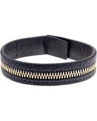 Want Les Essentiels De La Vie - Tambo Leather Zip Bracelet - Lyst
