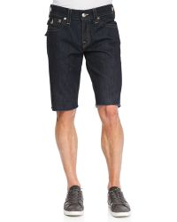 True Religion Ricky Dark-wash Cutoff Denim Shorts - Lyst