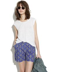 Madewell Deck Shorts in Floral Woodcut - Lyst