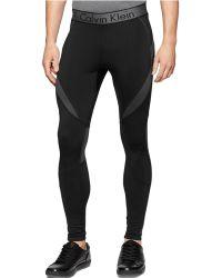 Calvin Klein Performance Stretch Compression Pants black - Lyst
