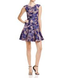 Rebecca Taylor - Silk Garden V-neck Dress - Lyst