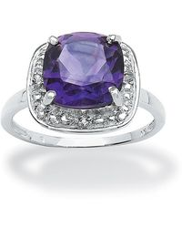 Palmbeach Jewelry - 2.88 Ct Tw Amethyst And White Topaz Ring In Sterling Silver - Lyst