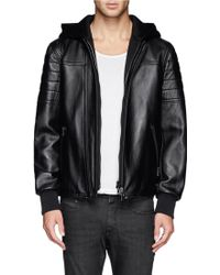 Neil Barrett Neoprene Hood and Placket Bomber Jacket - Lyst