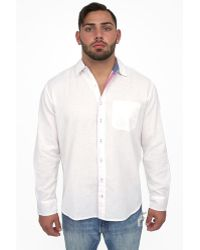 Giorgio Bellini - Ravello Linen Blend Button Front Shirt - Lyst