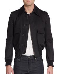 Burberry Prorsum Cotton-blend Jacket - Lyst