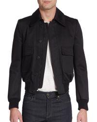 Burberry Prorsum Cotton-blend Jacket - Lyst
