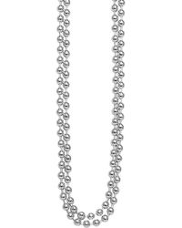 Lagos Sterling Silver Ball Chain Necklace - Lyst